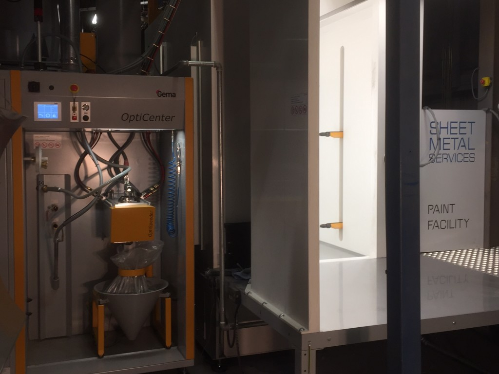 Sheet Metal Services Powder Coating Facility